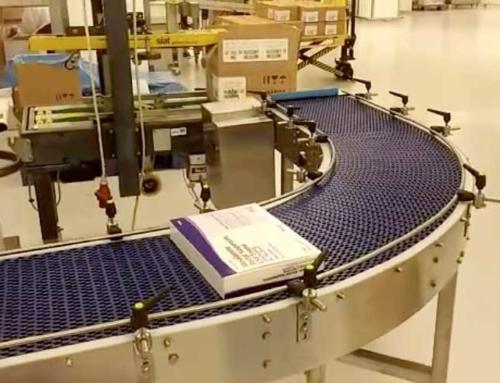 מסוע רשת למפעל תרופות